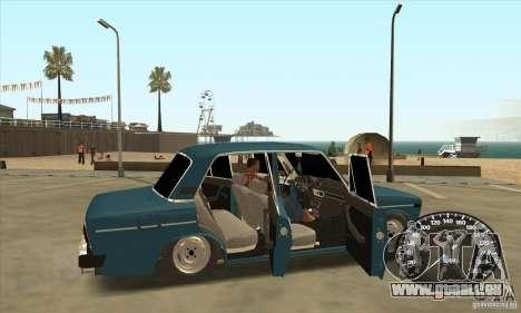 VAZ 2106 Tuning Light pour GTA San Andreas laissé vue