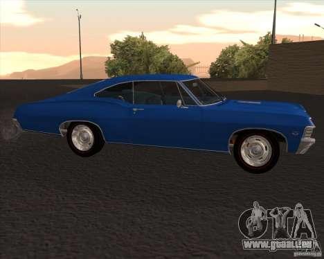 Chevrolet Impala 427 SS 1967 pour GTA San Andreas laissé vue