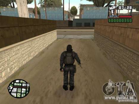 Mercenaire de STALKER en masque pour GTA San Andreas troisième écran
