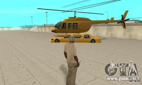 VIP TAXI pour GTA San Andreas quatrième écran