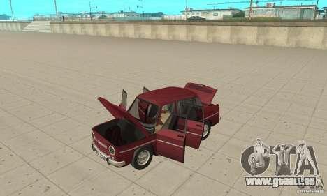 Dacia 1100 pour GTA San Andreas vue arrière