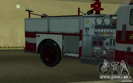 FIRETRUCK pour GTA San Andreas vue intérieure