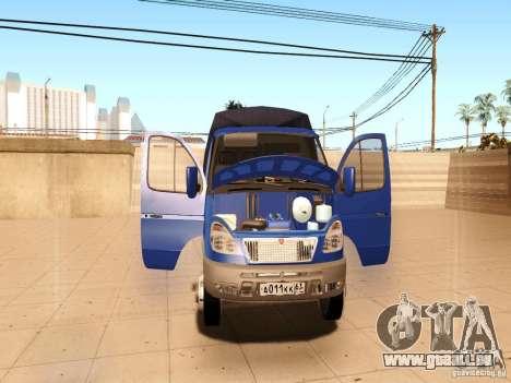3302 Gazelle pour GTA San Andreas vue de dessus