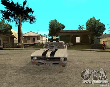 1969 Chevrolet Nova ProStreet Dragger pour GTA San Andreas vue arrière