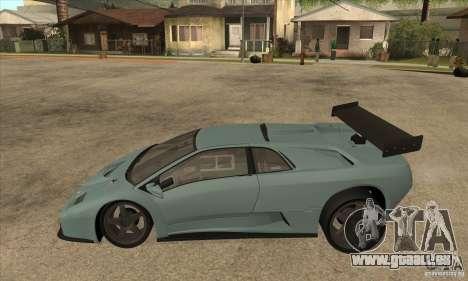 Lamborghini Diablo GT-R pour GTA San Andreas laissé vue