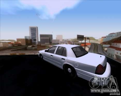 Ford Crown Victoria 2009 Detective für GTA San Andreas zurück linke Ansicht