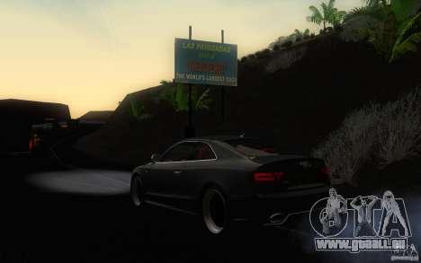 Audi S5 Black Edition für GTA San Andreas zurück linke Ansicht