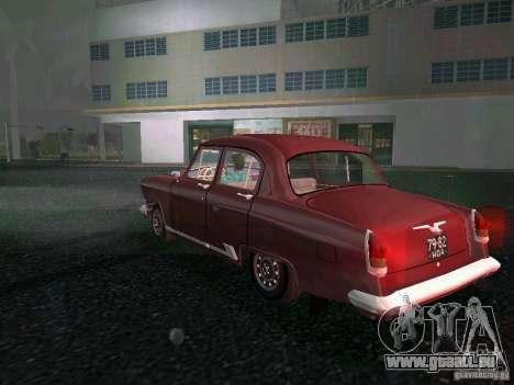 Gaz-21r 1965 pour GTA Vice City sur la vue arrière gauche