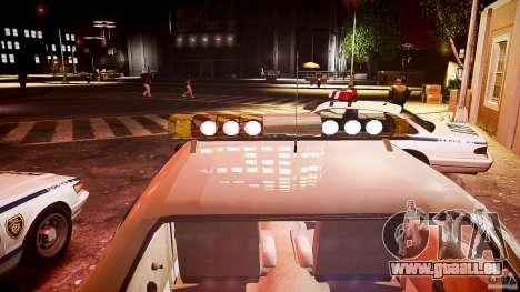 AMC Matador Hazzard County Sheriff [ELS] pour GTA 4 est une vue de dessous