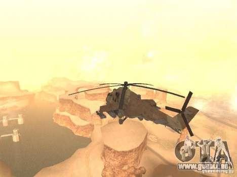 Mi-24p Desert Camo pour GTA San Andreas sur la vue arrière gauche