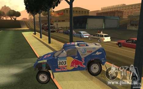 Volkswagen Race Touareg pour GTA San Andreas laissé vue