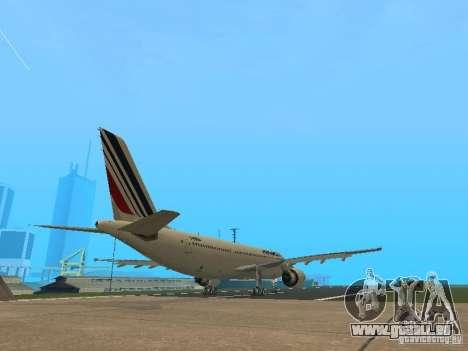 Airbus A300-600 Air France pour GTA San Andreas vue arrière