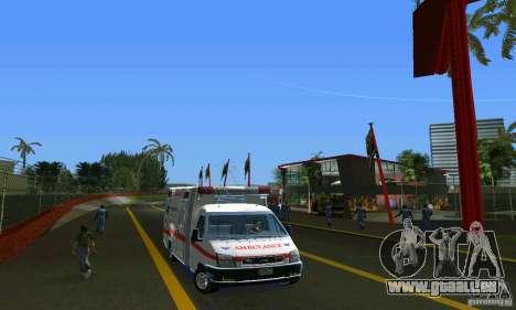 RTW Ambulance für GTA Vice City Rückansicht