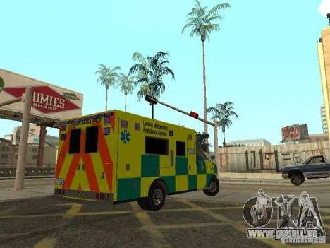 London Ambulance pour GTA San Andreas sur la vue arrière gauche