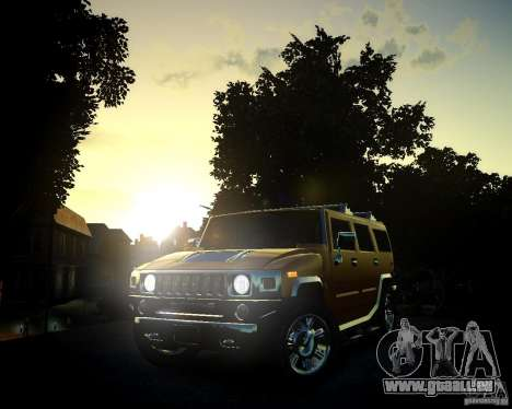Hummer H2 2010 Limited Edition pour GTA 4 est une vue de dessous