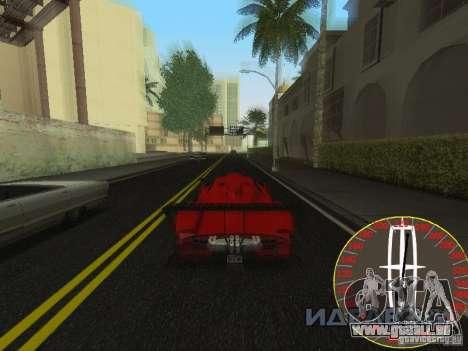 Nouveau compteur de vitesse Lincoln pour GTA San Andreas troisième écran