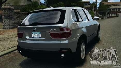BMW X5 xDrive35d pour GTA 4 Vue arrière de la gauche