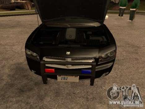 Dodge Charger RT Police pour GTA San Andreas vue intérieure