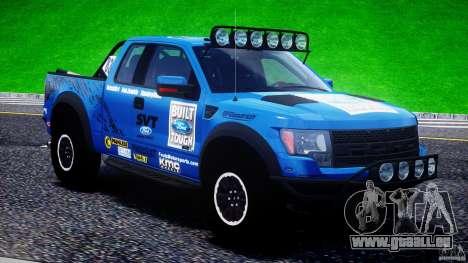 Ford F150 Racing Raptor XT 2011 pour GTA 4 Salon
