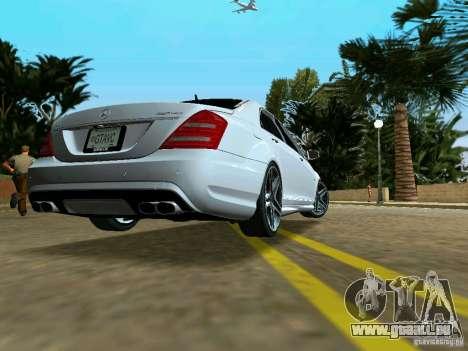 Mercedes-Benz S65 AMG 2012 pour une vue GTA Vice City de la gauche