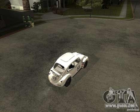 Volkswagen Beetle Herby pour GTA San Andreas vue de droite