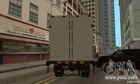 Camion avec logo YouTube pour GTA San Andreas sur la vue arrière gauche