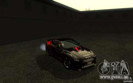 Nissan GTR R35 Spec-V 2010 pour GTA San Andreas vue de côté