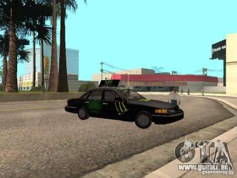 Ford Crown Victoria Taxi pour GTA San Andreas sur la vue arrière gauche