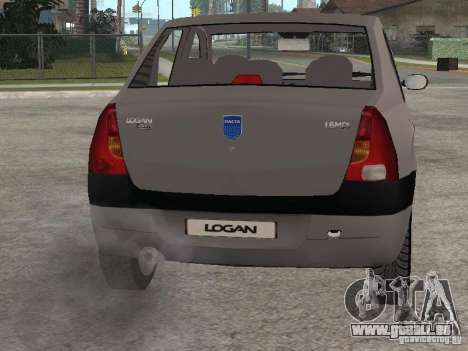 Dacia Logan 1.6 für GTA San Andreas Rückansicht