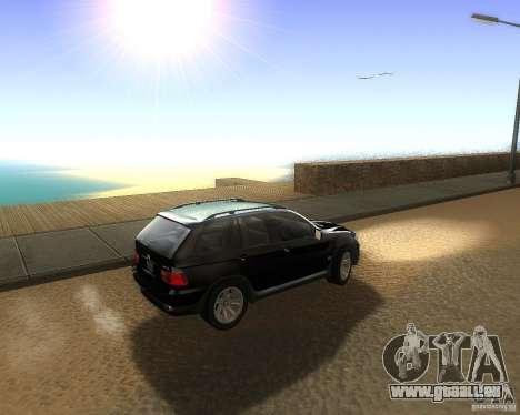 BMW X5 4.8 IS pour GTA San Andreas laissé vue