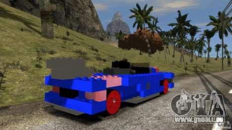 LEGOCAR pour GTA 4 Vue arrière de la gauche