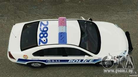Chevrolet Impala 2012 LCPD pour GTA 4 est un droit