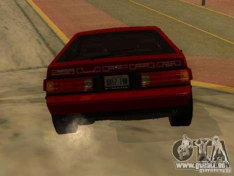 Toyota Celica Supra pour GTA San Andreas sur la vue arrière gauche