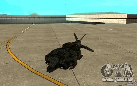 Das Shuttle aus dem Spiel Aliens Vs Predator 3 für GTA San Andreas linke Ansicht