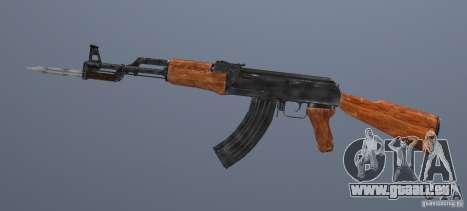 AK 47 avec baïonnette pour GTA San Andreas deuxième écran