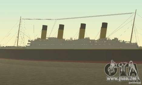 RMS Titanic pour GTA San Andreas vue de droite