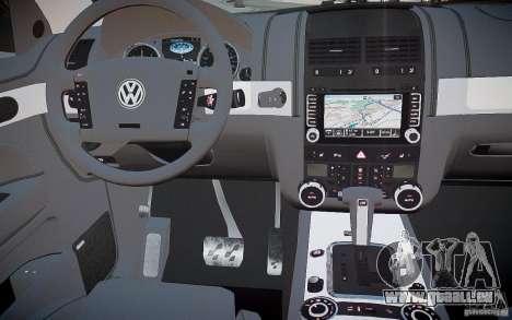 Volkswagen Touareg R50 pour GTA 4 vue de dessus