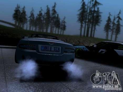 Aston Martin DB9 Volante 2006 pour GTA San Andreas laissé vue