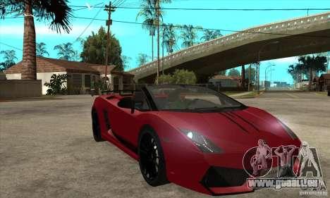 Lamborghini LP570-4 Performante 2011 pour GTA San Andreas vue arrière