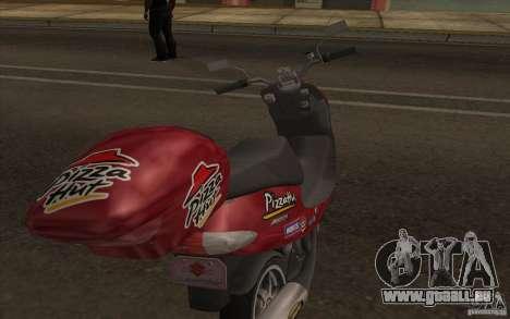Suzuki Addres für GTA San Andreas rechten Ansicht