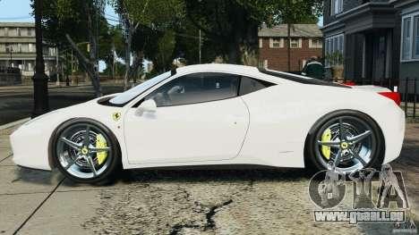 Ferrari 458 Italia 2010 v2.0 für GTA 4 linke Ansicht