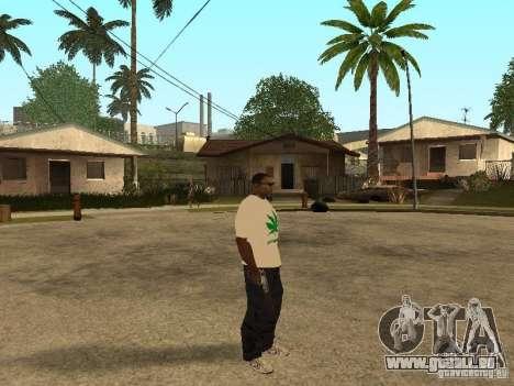 T-shirt avec de l'herbe pour GTA San Andreas troisième écran