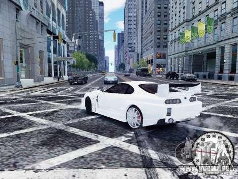 Toyota Supra Drift Setting für GTA 4 hinten links Ansicht