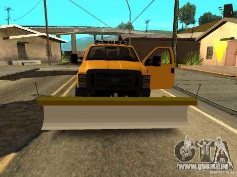 Ford Super Duty F-series pour GTA San Andreas vue intérieure