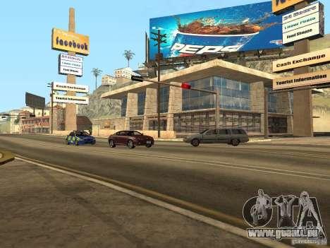 Nouveau Mulholland-nouvelle rue Mulholland pour GTA San Andreas cinquième écran