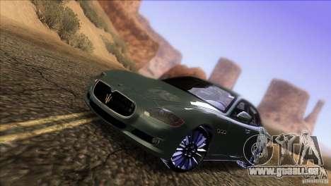 Maserati Quattroporte Sport GT V1.0 pour GTA San Andreas