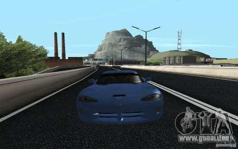 Dodge Viper GTS Monster Energy DRIFT für GTA San Andreas zurück linke Ansicht