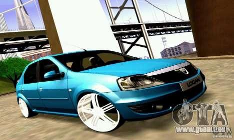 Dacia Logan 2008 pour GTA San Andreas vue intérieure