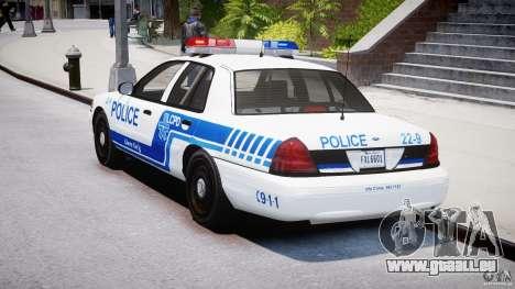 Ford Crown Victoria CVPI-V4.4M [ELS] pour GTA 4 Vue arrière de la gauche