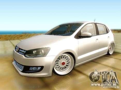 Volkswagen Polo 6R TSI Edit für GTA San Andreas zurück linke Ansicht